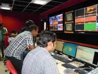 News Channels Production Control Room