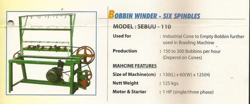 Bobbin Winder- Six spindles