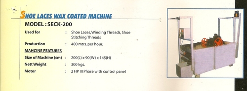 Shoe Laces Wax Coated Machine