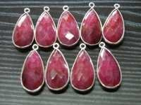 Ruby Bezel Pendants