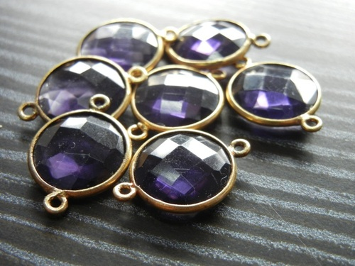 Amethyst Silver Connectors