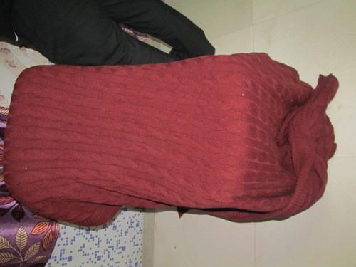 Crochet Knit Trim Throw