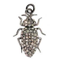 Sterling Silver Pave Diamond Pendant