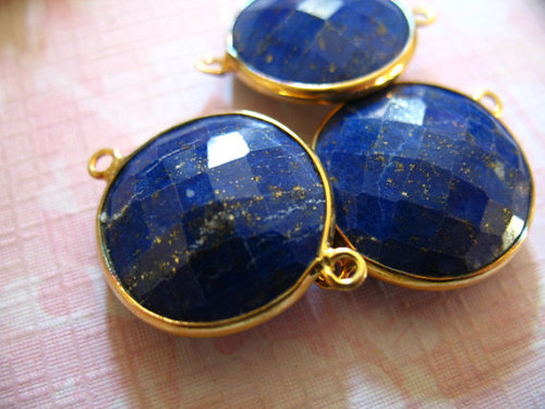LOT OF 30 PIECE LAPIS GEMSTONE CONNECTORS