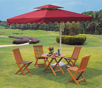 Square Garden Umbrellas