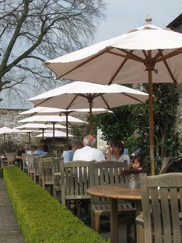 Wooden Garden Umbrellas