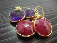 Gold Plated Gemstone Earring