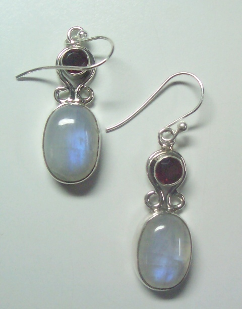 Fashion Gemstone Silver Earrings
