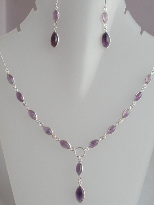 Gemstone Bezel Necklace