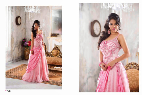 Pink Designer Evening Gown