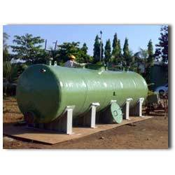 FRP Horizontal Dishend Tank