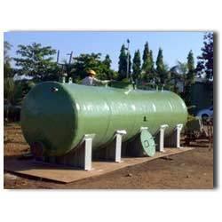 FRP Horizontal Dishend Tank