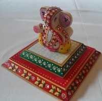 Marble Double Chowki Ganesh Ji
