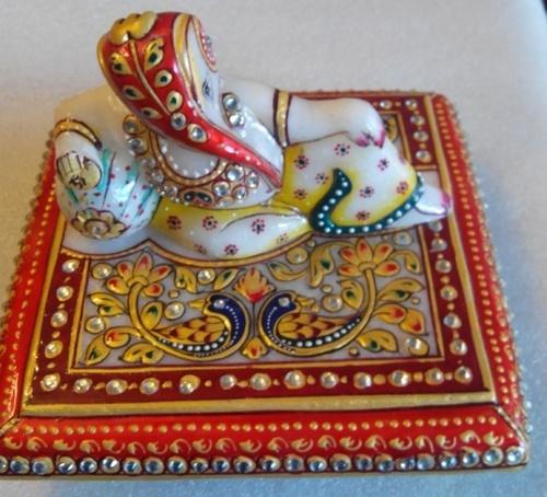 Italian Marble Chowki Ganesh