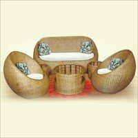 Woven Round Sofa Set
