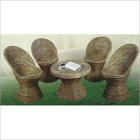 Cane Bar Chair Set