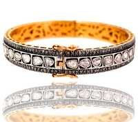 Diamond Gold Bangle Jewelry