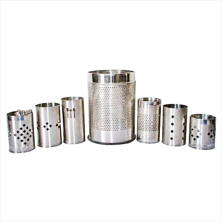 Perforated Stainless Steel Bins