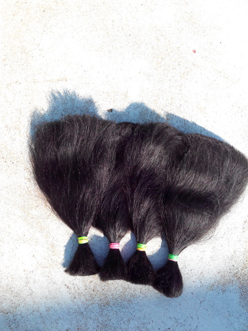Double Drawn Human Hair