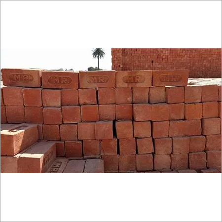 Red clay handmade bricks