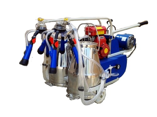 Motor Cum Engine Operated Milking Machine