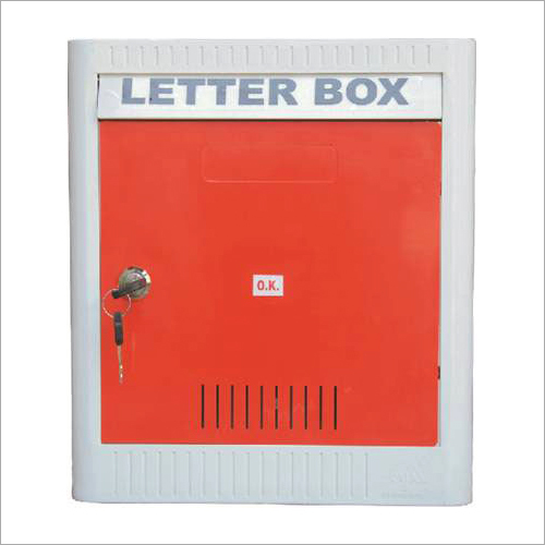 Red Plastic Letter Box