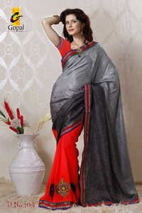 Badla Work Saree