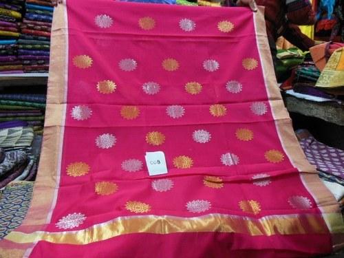 Chanderi silk zari sarees