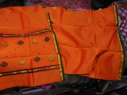 Chanderi silk zari suits