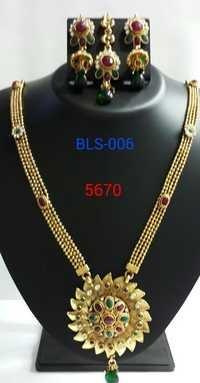 Ruby Studded Necklace Set
