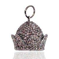 Pave Diamond Silver Pendant
