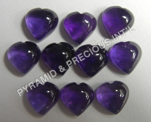 Amethyst Heart Shape Beads