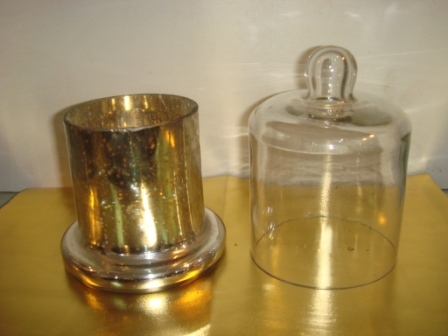 Dining Tea Light Holder With Glass cover