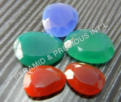Chalcedony Talpe Cut Gemstone