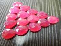 Hot Pink Chalcedony Pear Shape