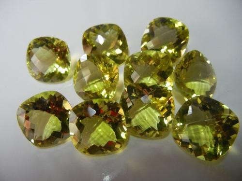 Lemon Cushion Shape Facet Gemstone