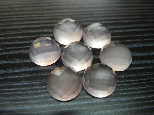Pink Chalcedony Round Shape Gemstone