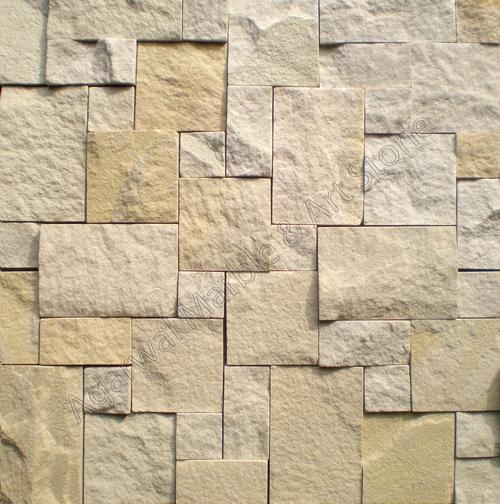 Rock Face Sandstone Mosaic Tiles