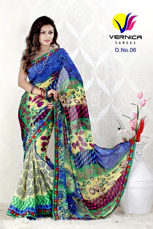 Unique Printed Saree