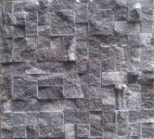 Black Natural Stone Mosaic Tiles
