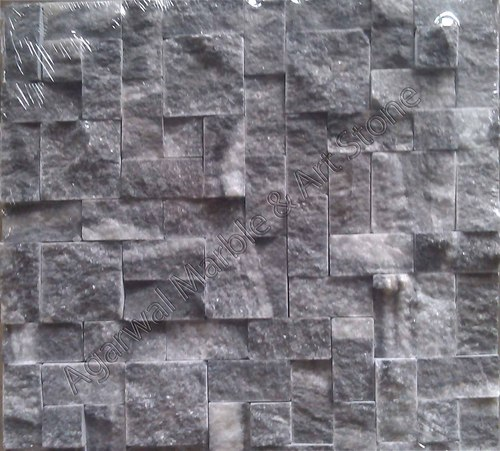 Black Natural Stone Mosaic Tiles
