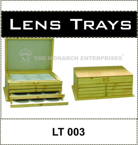 Wooden Lens Rack Set of 5 Trays
