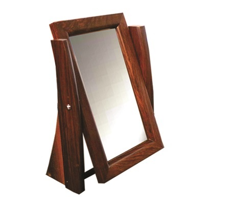 Rose Wood Optical Counter Mirror