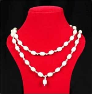 Silver Beads Japa Mala