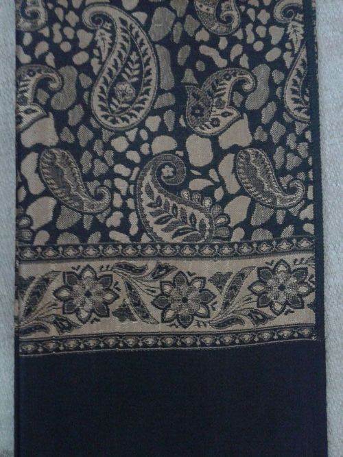 Golden Chinar Embroidered Shawl