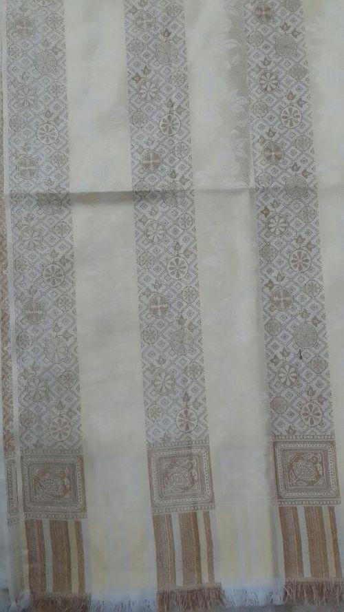 White Golden Shawl