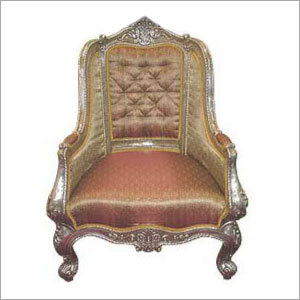 Antique Silver Throne Chair