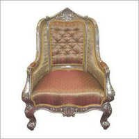 Antique Silver Throne