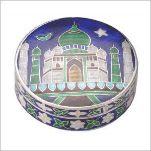 Antique Silver Enamel