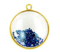 Crystal Sapphire Gold Pendant
